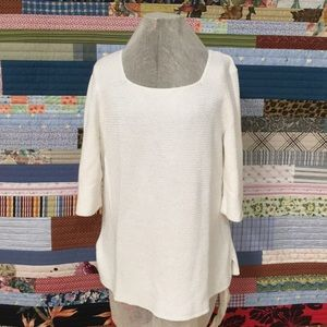 J Jill Pullover Sweater Sz XL Knit Cream